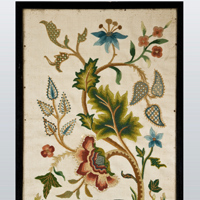 An 18th Century crewelwork panel