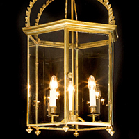 A fine pair of late 19th Century brass lanterns. Thumbnail 1
