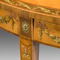 Antique Sheraton satinwood console table.