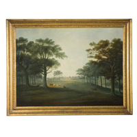 An English Park with a house in the background by D. Clowes. Thumbnail 1