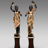 A pair of Venetian blackamoors. Thumbnail 1
