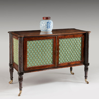 An antique Regency commode