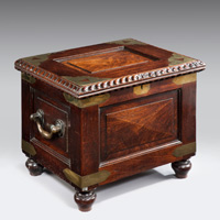 An antique 19th Century Colonial commode.