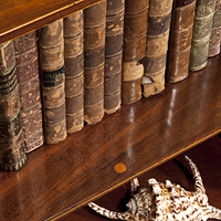 A George III period mahogany waterfall bookcase. Thumbnail 1
