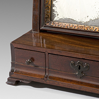 Antique George II mahogany dressing mirror.