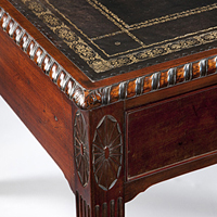 A fine Hepplewhite period mahogany writing table. Thumbnail 1