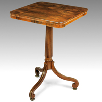 A Regency period rosewood veneered tripod table Thumbnail 1