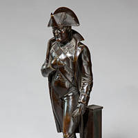 A 19th Century bronze statue of Napoleon. Thumbnail 1