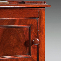 A near pair of early 19th Century mahogany pot cupboards. Thumbnail 1