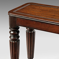 A fine Regency period mahogany window seat. Thumbnail 1
