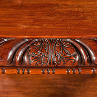 A powerful Regency period carved mahogany console table. Thumbnail 1