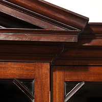 A fine George II period mahogany breakfront bookcase. Thumbnail 1