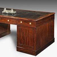 A fine early 19th Century mahogany partners' desk. Thumbnail 1