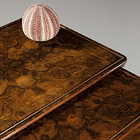 A fine late 19th Century walnut veneered quartetto nest of tables. Thumbnail 1