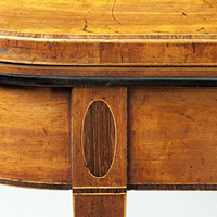 A pair of Sheraton period faded mahogany card tables. Thumbnail 1