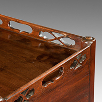 A Chippendale period mahogany pot cupboard. Thumbnail 1