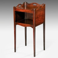 A George III period mahogany pot cupboard. Thumbnail 1