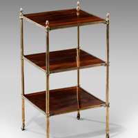 An antique Regency rosewood etagere.