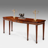 Antique Chippendale mahogany serving table.