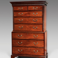 An antique  Chippendale mahogany tallboy.