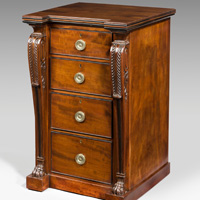 A Regency mahogany wellington chest.