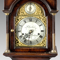 A fine late 19th Century miniature longcase clock retailed by Clerke, Royal Exchange. Thumbnail 1