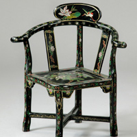 A rare Regency period japanned child's chair. Thumbnail 1