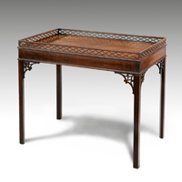 A good Chippendale period mahogany silver table. Thumbnail 2