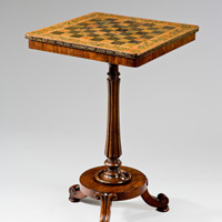 A Regency period rosewood chess table. Thumbnail 2