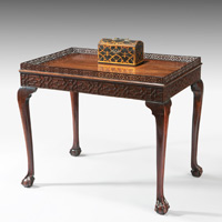A fine Chippendale period mahogany silver table. Thumbnail 2