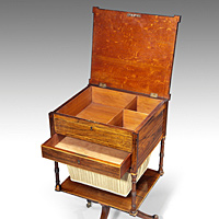 A Regency rosewood work table.