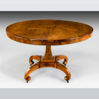 A fine Regency period rosewood veneered centre table. Thumbnail 2