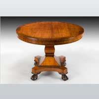 A Regency period rosewood veneered centre table. Thumbnail 2
