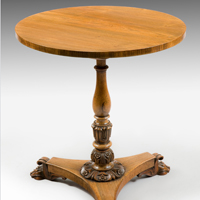 A Regency period rosewood veneered lamp table. Thumbnail 2