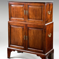 An unusual 18th Century mahogany cabinet. Thumbnail 2