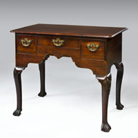 A George II period Irish mahogany lowboy. Thumbnail 2