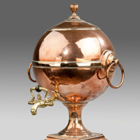 An antique Regency copper samovar.