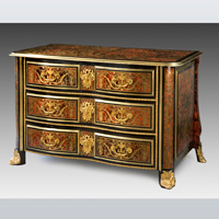 A Louis XIV revival boulle marquetry  and ormolu mounted commode. Thumbnail 2