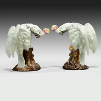 A well modelled pair of porcelain cockatiels. Thumbnail 2