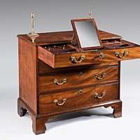 A Chippendale mahogany chest of drawers.