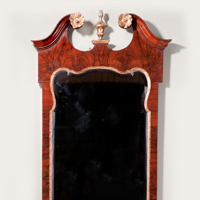 An antique George II mirror.
