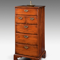 An unusual George II period sweet chestnut chest of drawers. Thumbnail 2
