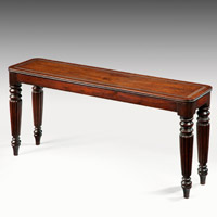 A fine Regency period mahogany window seat. Thumbnail 2
