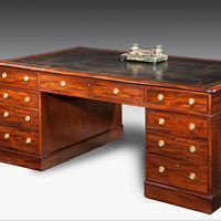 A fine early 19th Century mahogany partners' desk. Thumbnail 2