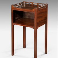 A Chippendale period mahogany pot cupboard. Thumbnail 2