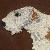 A 19th Century woolwork picture of a Fox Terrier. Thumbnail 2