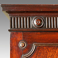 A fine Chippendale period mahogany linen press Thumbnail 2