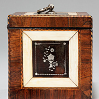 A superb Chippendale period tortoiseshell tea caddy. Thumbnail 2