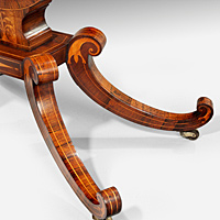 An elegant Regency period rosewood veneered card table. Thumbnail 2