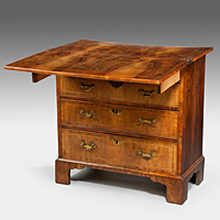 A rare George I period walnut bachelor's chest. Thumbnail 2